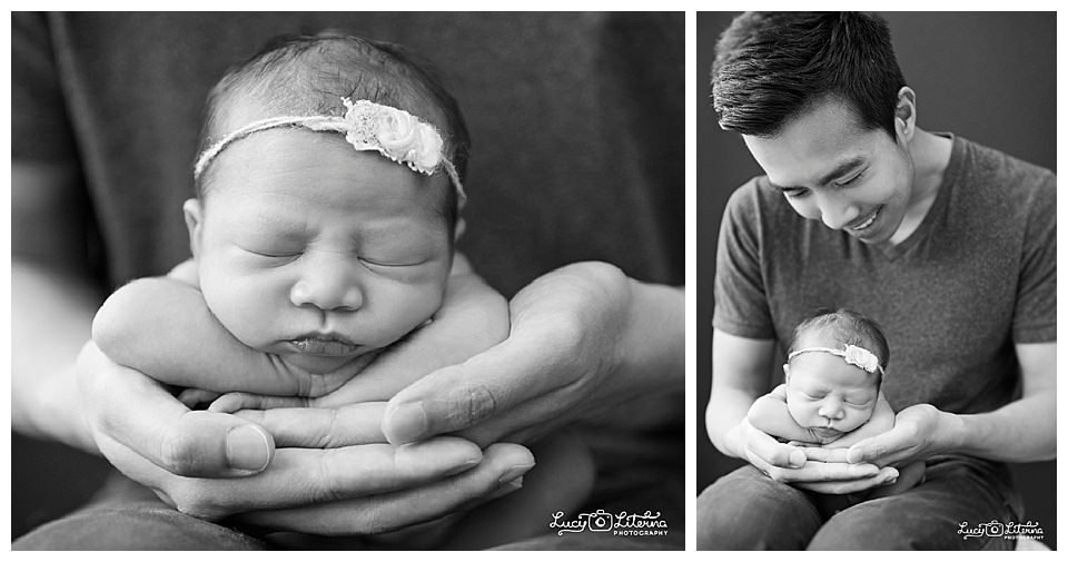 b&W newborn hands photos