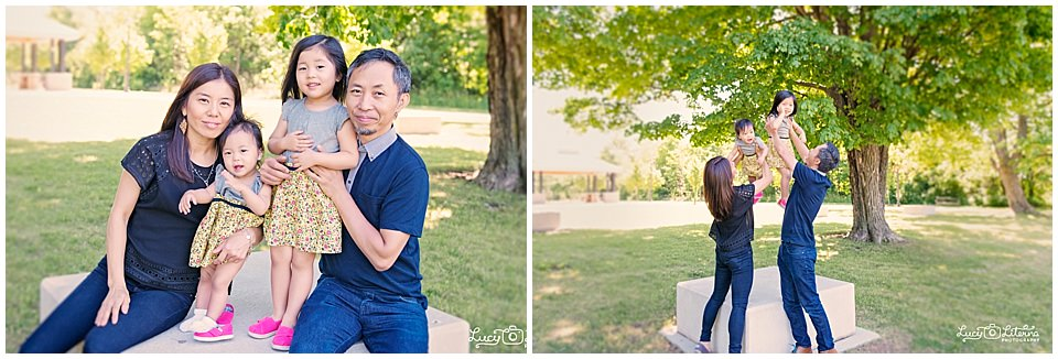family photo session in the park
