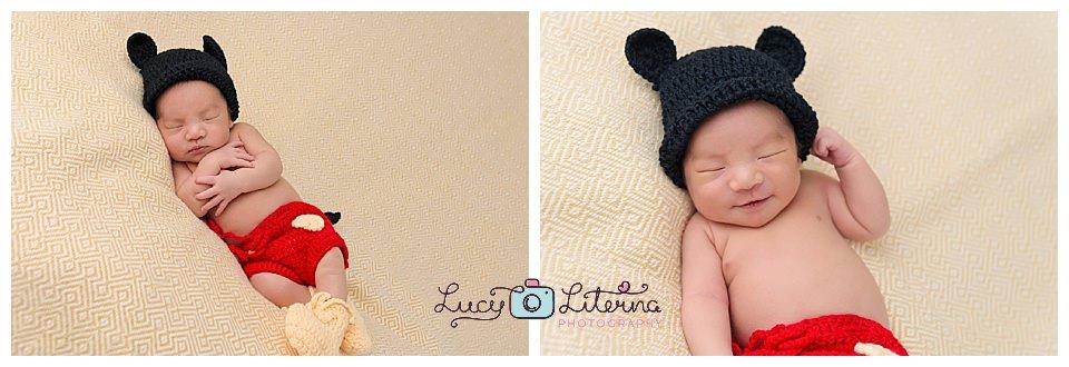 newborn photography Disney style micky mouse