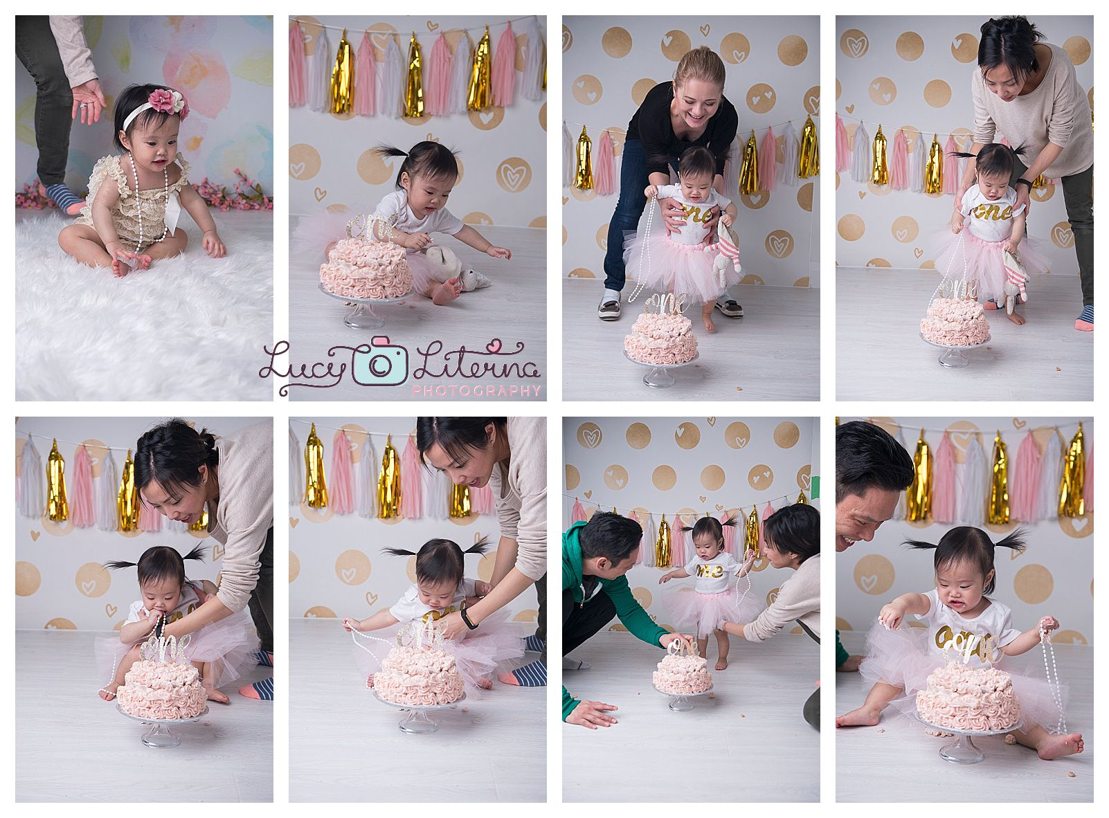 behind the scene baby photo session