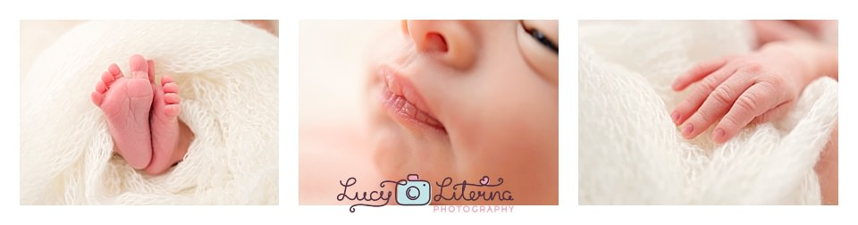 Newborn close-ups shots