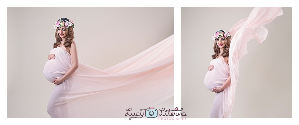 glamour fabric maternity photography