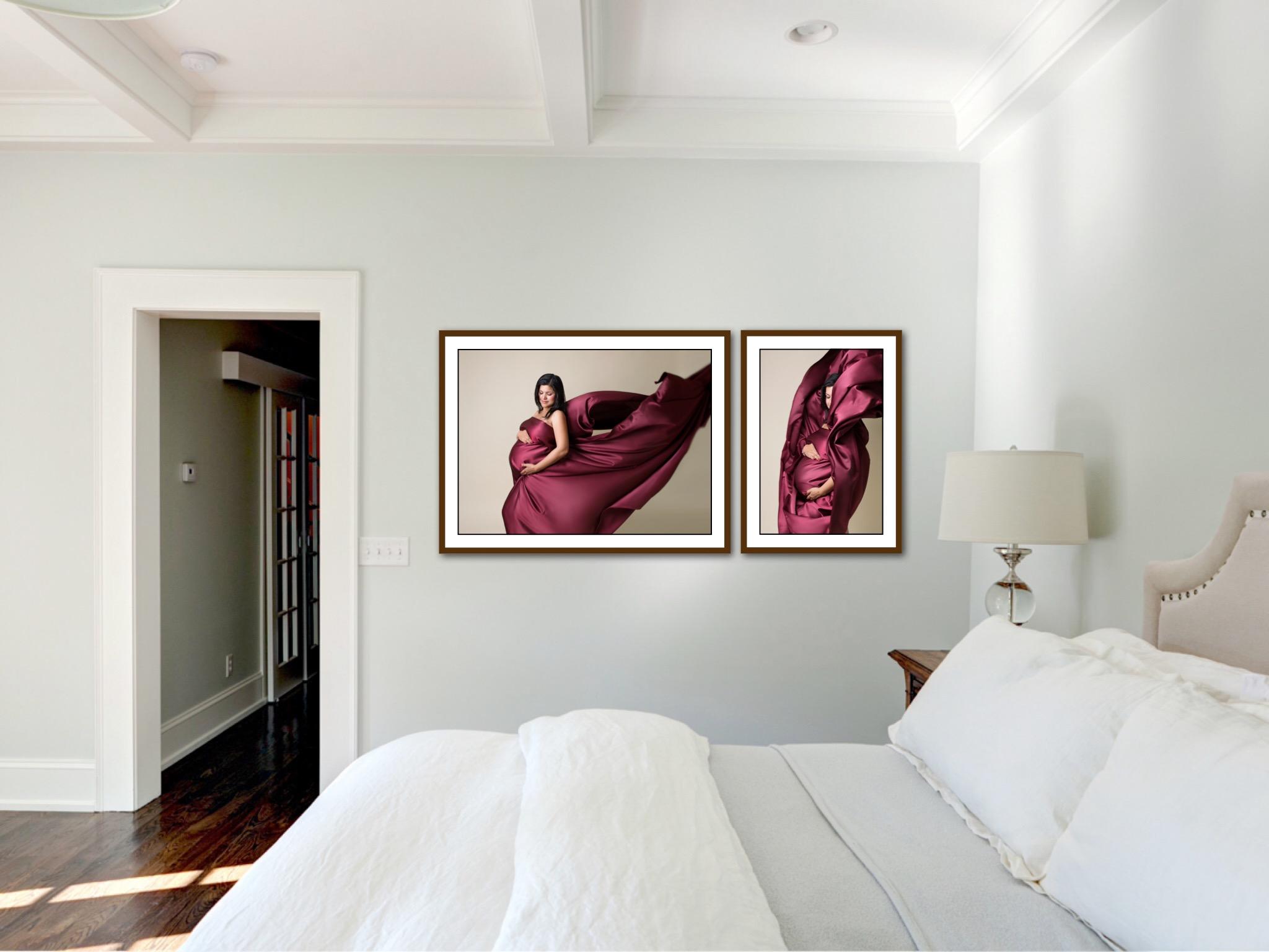 maternity portrait wall display photo frame