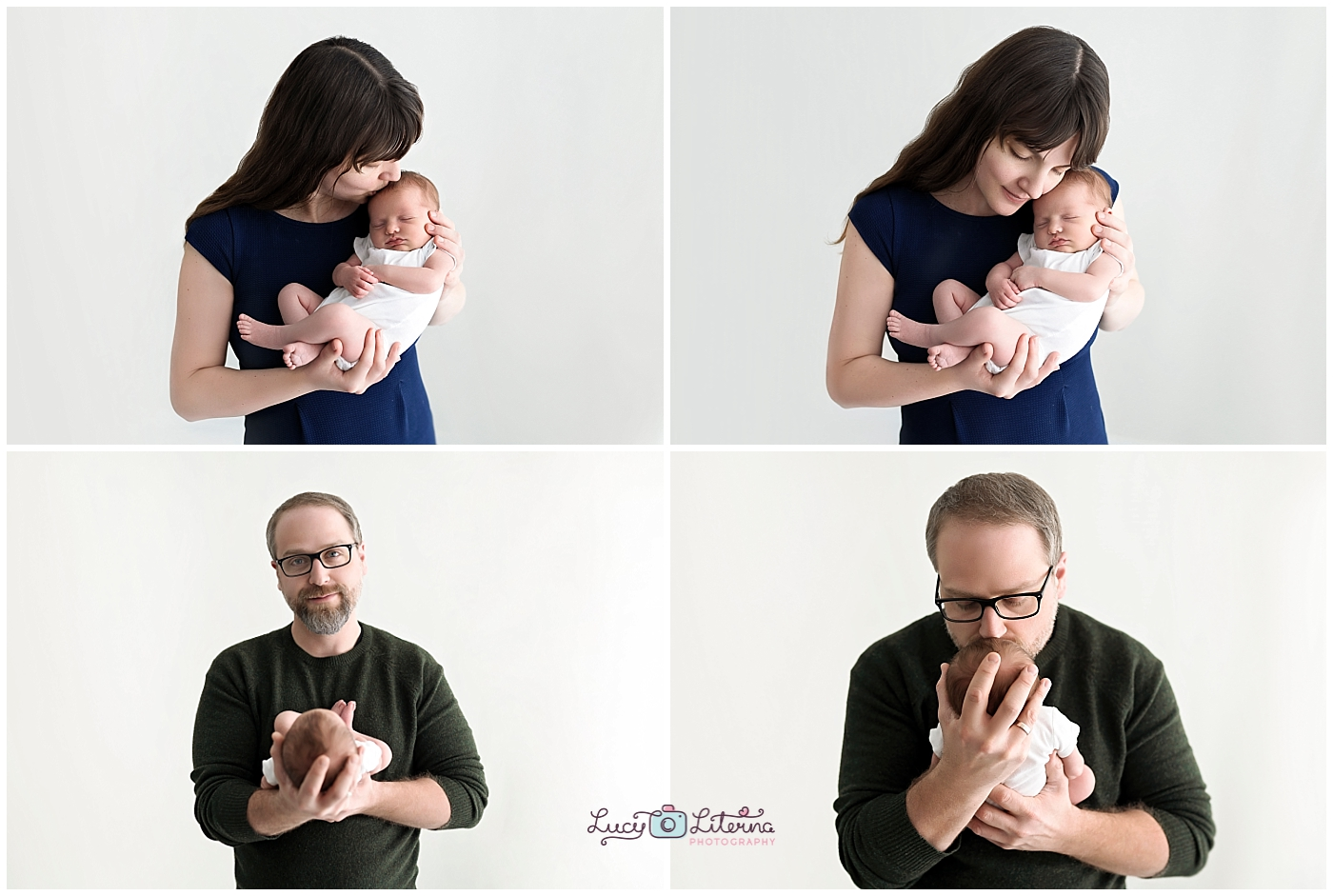 family and baby portraits