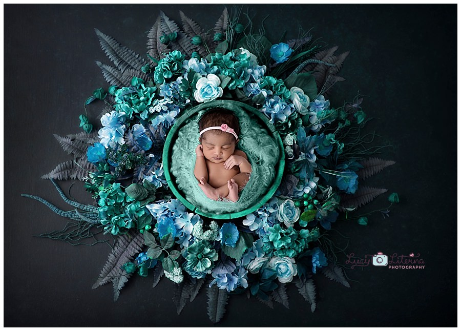 composite newborn photography photo session