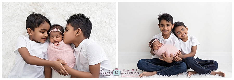 family and baby photography in the studio