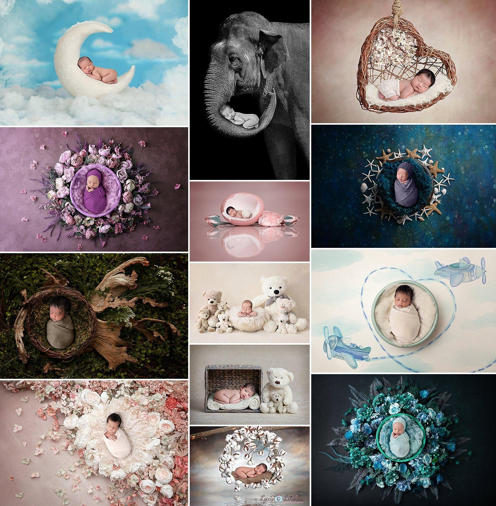 newborn photography composites